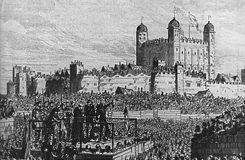 Beheading of John, Duke of North- umberland, 1553, Tower Hill